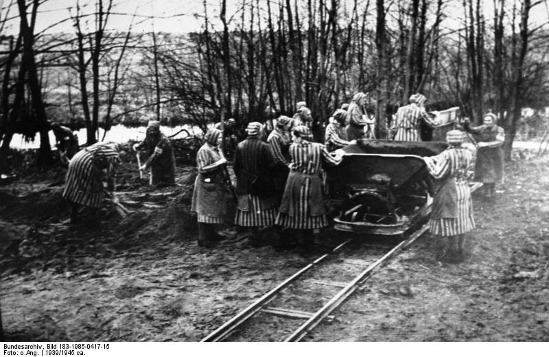 Female prisoners at Ravensbrück, where Betsie ten Boom died. Image credit: Deutsches Bundesarchiv (Wikimedia Commons)
