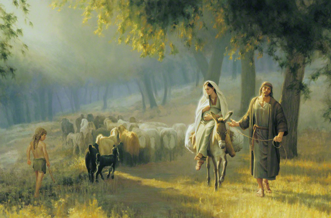 """The Road to Bethlehem"", by Joseph Brickey; GAB 29; Luke 2:1–5"